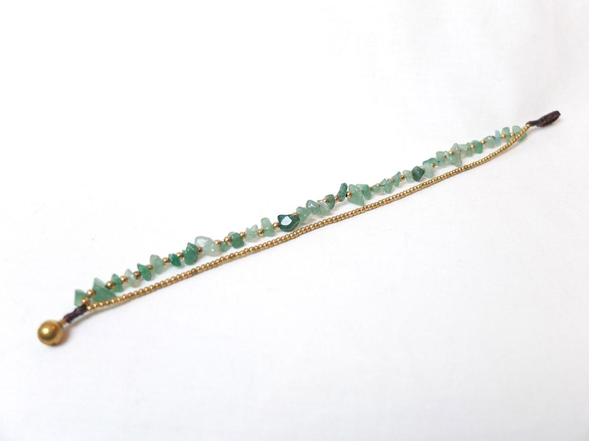 photo Amérique du sud brun jade macramé metal or pierres naturelles