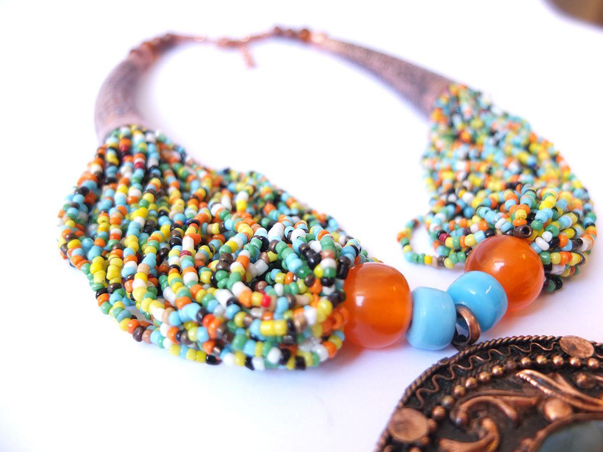 photo agate cuivre Inde perles de couleurs pierres naturelles
