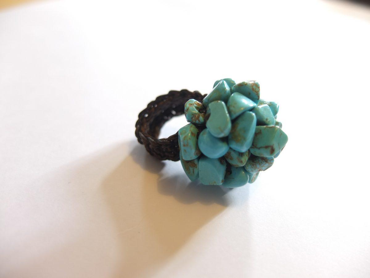 photo Amérique du sud macramé pierres naturelles turquoise