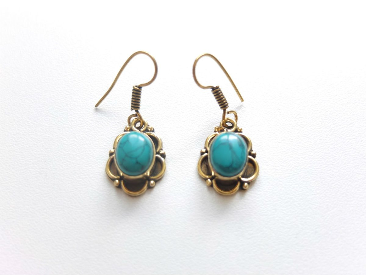 photo bronze Inde pierres naturelles turquoise